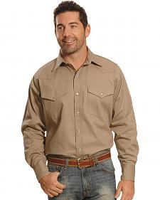 Crazy Cowboy Men's Beige Western Work Shirt