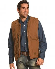 Crazy Cowboy Men's Brown Work Vest - Big and Tall