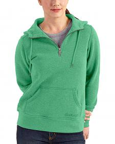 Carhartt Women's Light Green Clarksburg Quarter-Zip Sweatshirt