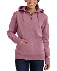 Carhartt Women's Purple Clarksburg Quarter-Zip Sweatshirt