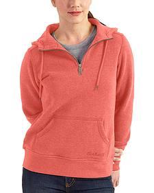 Carhartt Women's Coral Clarksburg Quarter-Zip Sweatshirt