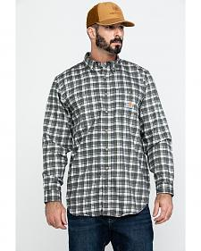 Carhartt Men's Flame Resistant Classic Plaid Shirt