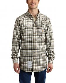 Carhartt Men's Flame Resistant Classic Plaid Shirt - Big & Tall