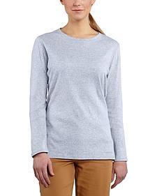 Carhartt Women's Calumet Lavender Long Sleeve Crewneck Shirt