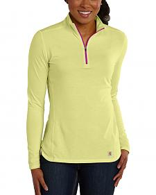 Carhartt Women's Force Performance Quarter-Zip Shirt