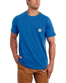 Carhartt Men's Force Cotton Blue Short Sleeve Shirt