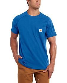 Carhartt Men's Force Cotton Blue Short Sleeve Shirt