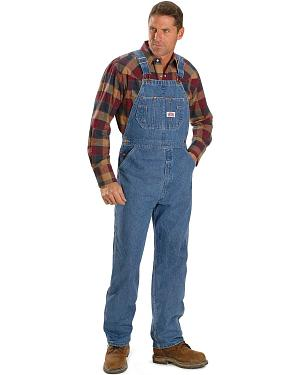 "U.S.A. Made Round House Overalls - Reg, Big. Up to 50"" Waist"