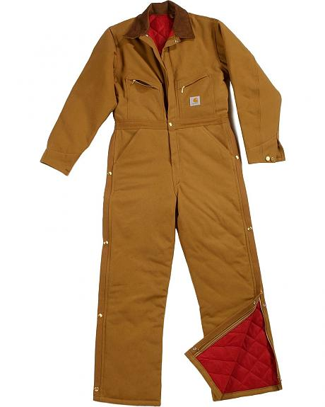 Carhartt XO1 Quilt Lined Duck Coveralls - Short, Reg Inseams