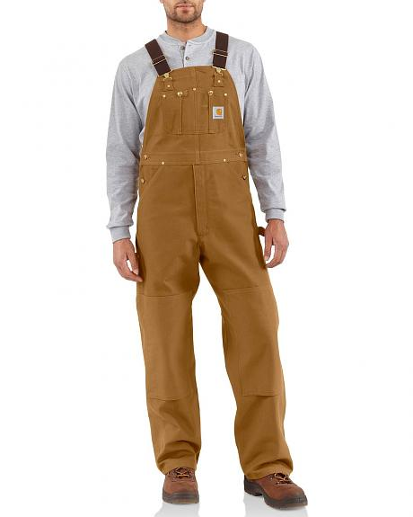 Carhartt R01 Unlined Duck Bib Overalls - Reg, Big. Up to 50