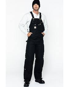 """Carhartt Quilt Lined Duck Bib Overalls - Reg, Big. Up to 50"""" waist"""
