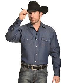 Wrangler Indigo Denim Work Shirt