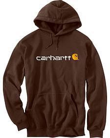 Carhartt Men's Signature Logo Midweight Hooded Sweatshirt
