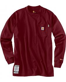 Carhartt Flame Resistant Force Cotton Long Sleeve Shirt - Big & Tall