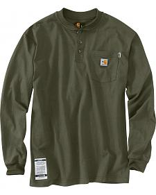 Carhartt Flame Resistant Force Cotton Henley Shirt - Big & Tall