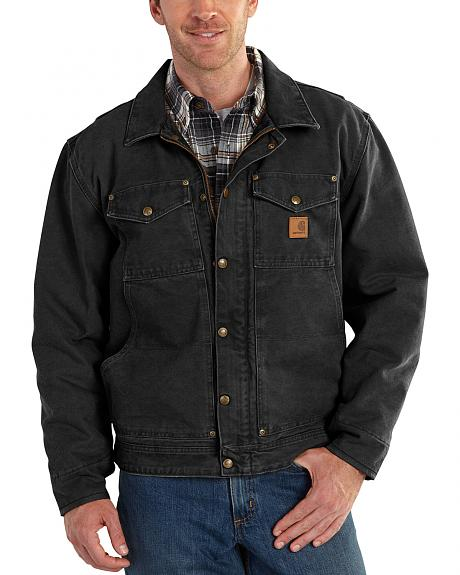 Carhartt Men's Black Berwick Jacket - Big & Tall
