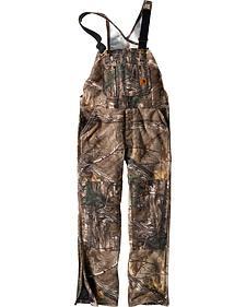 Carhartt Men's Quilt-Lined Camo Bib Overalls - Tall