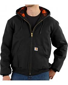 Carhartt Men's Black and Plaid Huntsman Active Jacket