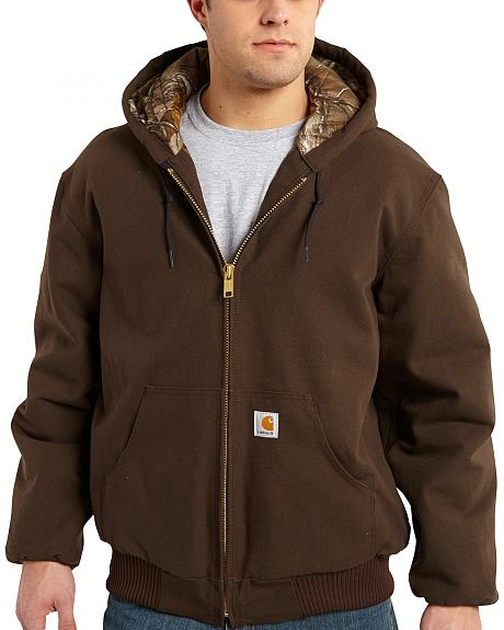 Carhartt Men's Dark Brown Huntsman Active Jacket - Big & Tall