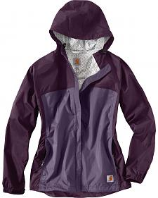 Carhartt Women's Purple Mountrail Waterproof Rain Jacket