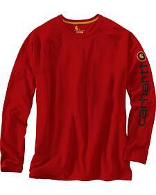 Carhartt Men's Force Cotton Delmont Sleeve Graphic Long-Sleeve T-Shirt
