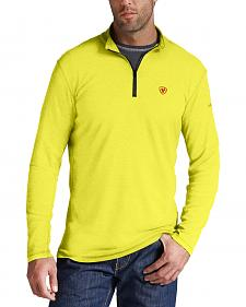 Ariat Men's FR Yellow Polartec HRC2 1/4-Zip Shirt