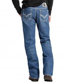 Rock and Roll Cowboy Medium Wash Double Barrel Relaxed Fit Flame Resistant Jeans - Boot Cut