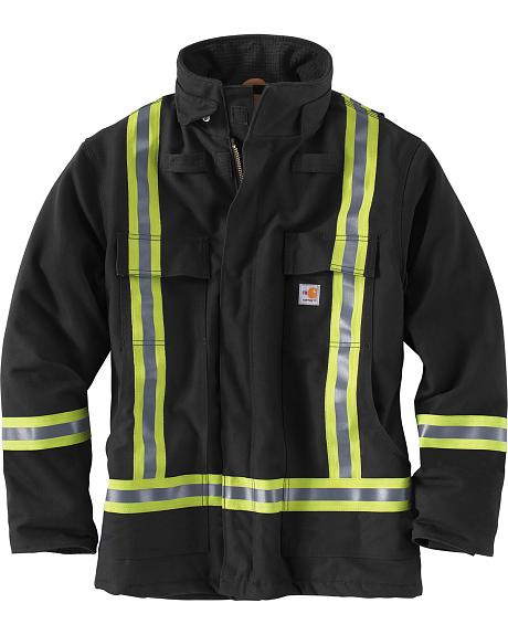 Carhartt Men's Flame-Resistant Striped Duck Traditional Coat
