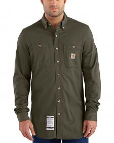 Carhartt Men's Moss Flame-Resistant Force Cotton Hybrid Shirt - Big & Tall