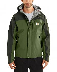 Carhartt Men's Olive Shoreline Vapor Waterproof Jacket