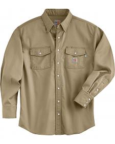 Carhartt Men's Flame Resistant Snap Front Shirt - Big & Tall