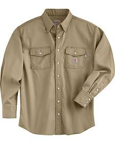 Carhartt Men's Flame Resistant Snap Front Shirt - Big & Tall