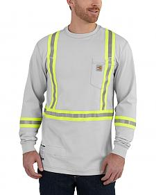 Carhartt Men's Flame Resistant Force High-Viz Long Sleeve Shirt - Big & Tall