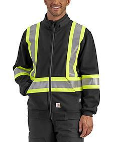 Carhartt Men's Flame Resistant Klondike High-Viz Sweatshirt - Big & Tall