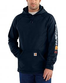 Carhartt Men's Flame Resistant Rugged Flex Graphic Logo Fleece Jacket - Big & Tall