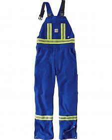 Carhartt Men's Flame Resistant High-Visibility Overalls - Big and Tall