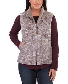 Carhartt Women's Hybrid Camo Printed Sandstone Mock Neck Vest
