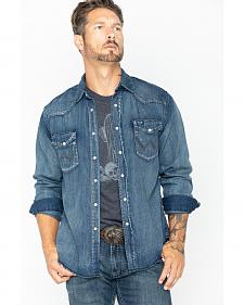 Wrangler Slub Denim Work Shirt