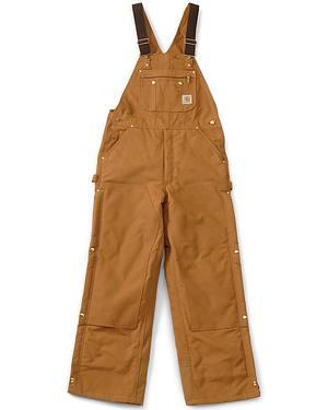 """Carhartt Lined Duck Bib Overalls - Reg, Big. Up to 50"""" waist"""