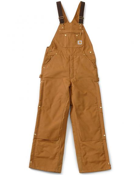 Carhartt Lined Duck Bib Overalls - Reg, Big. Up to 50