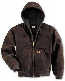 Carhartt Flannel Lined Sandstone Work Jacket