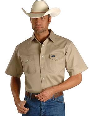 Wrangler Twill Work Shirt - Big, Tall