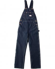 "U.S.A. Made Round House Rigid Denim Overalls - Reg, Big. Up to 50"" Waist"