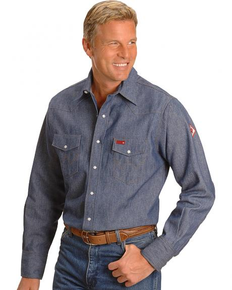 Wrangler Flame Resistant Work Western Shirt