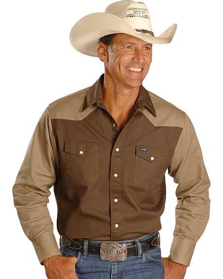 Wrangler Colorblock Work Shirt - Reg