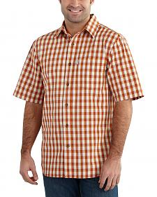 Carhartt Men's Essential Plaid Short Sleeve Shirt - Big & Tall