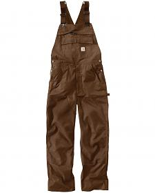 Carhartt Men's Dark Brown Force Extremes Bib Overalls