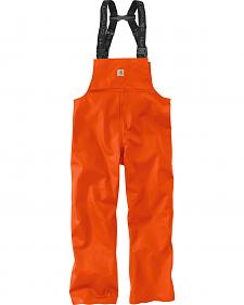 Carhartt Men's Orange Belfast Bib Overalls