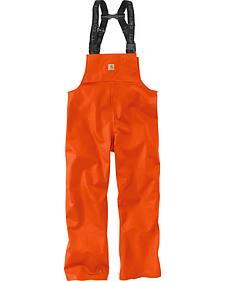 Carhartt Men's Orange Belfast Bib Overalls