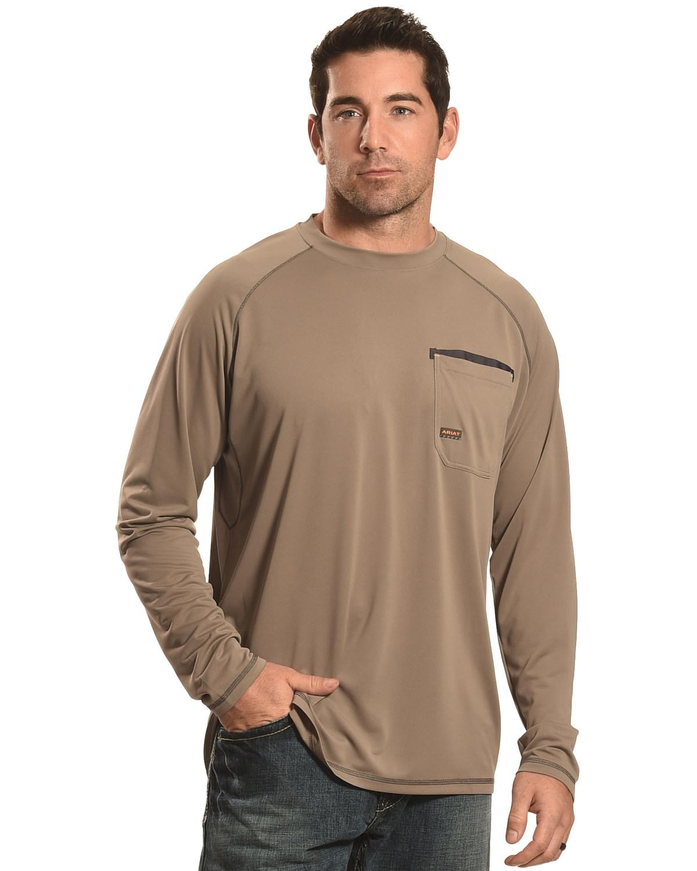 Ariat Men 39 S Rebar Sun Stopper Long Sleeve Shirt 10019137